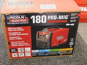 Lincoln Electric K2481 1 Pro Mig 180 Welder Mig flux cored Wire Feed 230 Volt