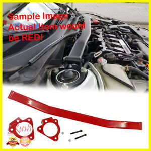 High Performance Red Front Engine Strut Bar For 2016 2020 Honda Civic 1 5t Si