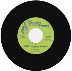 CURTIS LEE 45 rpm record UNDER THE MOON OF LOVE $11.99