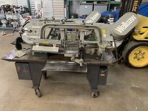 Wellsaw 1016 Capacity Horizontal Band Saw Single Phase W roller Table