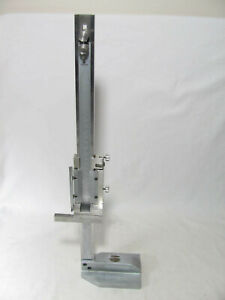 Mitutoyo Height Gage Gauge 18 Stainless Steel T00051i 2 No Clamp Or Scribe