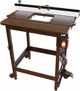 Sawstop Rt fs Cast Iron Router Table Top With Fence And Leg Set