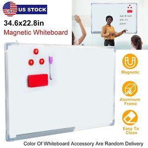 Magnetic Whiteboard Dry Erase White Board Wall Hanging Board 34 6 X 22 8
