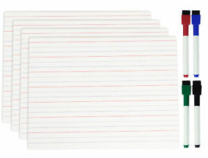 Inkdotpot Dry Erase Board For Kids Students 9 X 12 Double Sided 1od