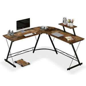 Home Office L shaped Corner Computer Desk 50 8 For Pc Study Table Workstation