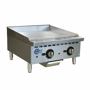 24 Thermostatic Control Commercial Countertop Gas Griddle
