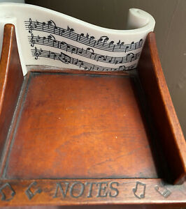 Desk Note Holder With Music Notes Design