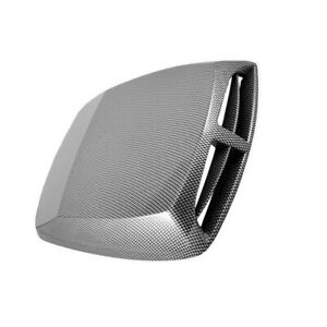 Abs Car Air Flow Intake Hood Scoop Vent Bonnet Cover Carbon Fibre Look Decor 1pc Fits 2005 Ford Mustang
