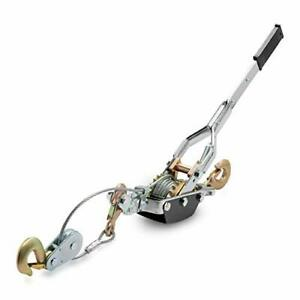 Neiko 02256a Heavy Duty 5 Ton Come a long Power Puller 3 Hooks And 2 Gears