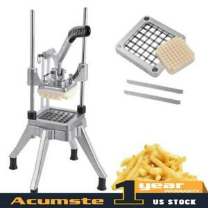 Blades Stainless Steel French Fry Cutter Potato Vegetable Slicer Chopper 1 2