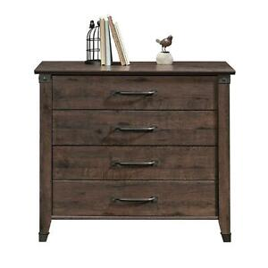 Forge Lateral File Cabinet Storage 4 Slide Out Drawer Carson Multi Wooden Finish