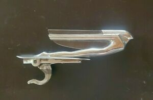 1938 40 Cadillac Lasalle flying Goddess Hood Ornament Nice Condition W Glass