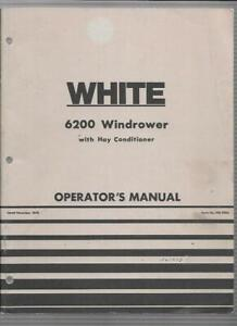 White 6200 Windrower With Hay Conditioner Operator s Manual