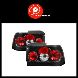 Spyder Auto 5007407 Euro Style Black Tail Lights For 1993 1997 Toyota Corolla