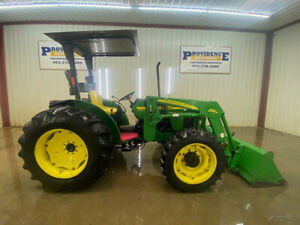 2006 John Deere 5105 Tractor Loader With Orops With Canopy 4x4
