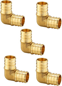 pack Of 5 Efield Pex 1inch Elbow Brass Crimp Fittings For Pex Tubing no Lead