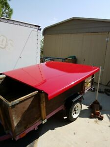 Ford F150 Short Bed Red Cover Fiberglass With Hardware Keys And Carpet