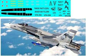 1 144 PLASTIC LEE KIT F A 18 HORNET WITH Y KRAFT VFA 204 RIVER RATTLERS DECALS $12.00