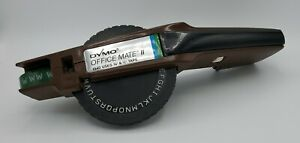 Vintage Dymo Office Mate Ii Label Maker 1540 With Partial Roll Of Tape Damaged