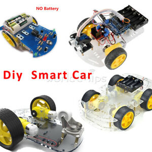 Avoidance Tracking Smart Car Robot Tracking Motor Chassis Kit For Arduino Diy