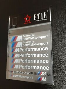 M Performance Power Motorsport Car Stickers Decals Kit Sets For Bmw