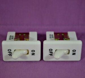 2x Vtg Carling White Toggle On off Range Switch Snap in Rare 15 16amp 125v