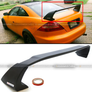 Fits 03 07 Honda Accord 2dr Coupe Unpainted Mugen Style Rr Trunk Wing Spoiler