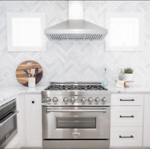 Zline 36 Dual Fuel Range W gas Stove And Electric Oven In Stainless Ra 36