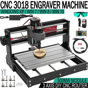 Cnc 3018 Pro Router Kit 3 Axis Engraving Milling Machine 0 5w Laser Grbl offline