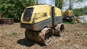 2011 Bomag Bmp8500 32 Padfoot Drum Trench Compactor Kubota D1005 W Remote
