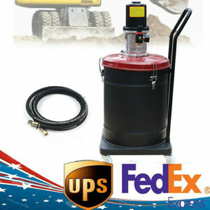 Grease Pump Air Pneumatic Lubricator Compressed Gun With Two Wheels 10 Gallon