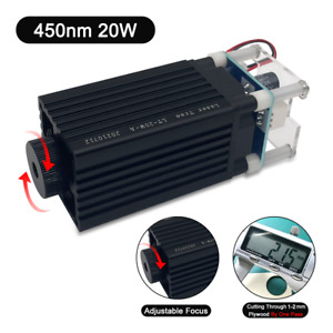 450nm 20w 5 5w Output Optical Power laser Module Head Laser Engraving Wood Tools