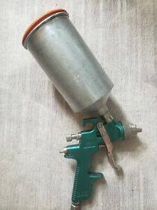 Working Condition Sata Jet Nr95 Hvlp Spray Gun Teal Green Made In Germany