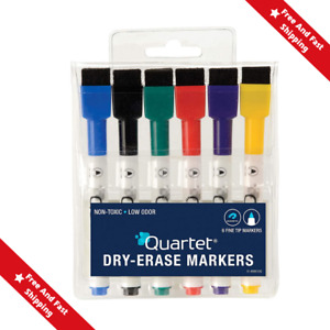Magnetic Dry Erase Markers Whiteboard Magnet Board Fine Point Tip Pen 5cap