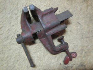 Vintage Clamp On Bench Vise With Anvil