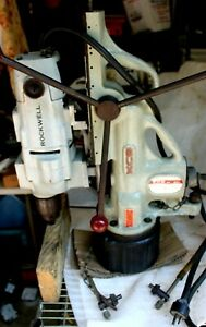 Bux Magnetic Base Drill With Swivel Base Rockwell Drill 3 4 Hp