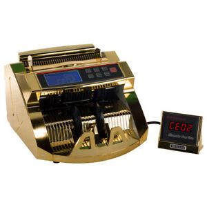 Homeland Goods Rose Gold Money Counter With Uv mg Detection 80w Bill Counter