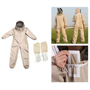 Bee Protective Clothing Beekeeping Suit Farm Glove Veil For Beekeepers Xl