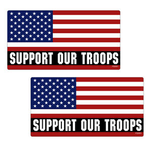 Support Our Troops Usa Flag Mirror Stickers Truck Vinyl Decal Bumper Fs2051