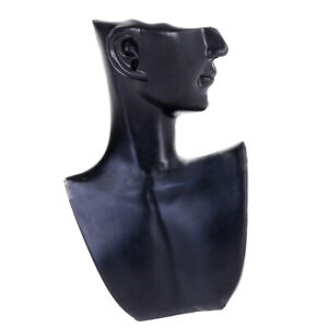 Fashion Show Jewelry Mannequin Bust Store Display Resin Material Black