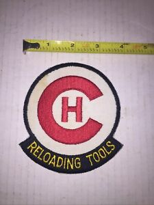 Vintage Embroidered Patch CH Reloading Tools Bullets Ammo $9.99