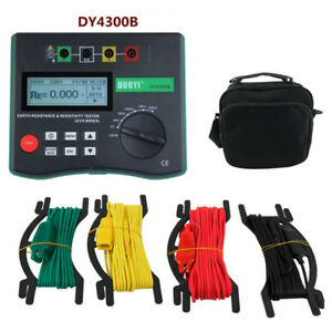 Dy4300b 4 terminal Earth Resistance And Soil Resistivity Tester Aa1 5v 8 New