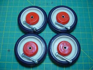 Pemco Hd Set Of 4 Replacement Shopping Cart Caster Wheels 5 Diameter
