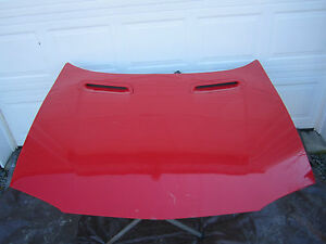 Hood Bright Red Vent Scoop Front Panel Car Part 93 94 95 96 97 Chevy Camaro Z28