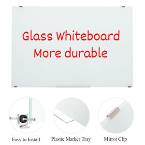 35 X 24 Glass Dry Erase Magnetic Board Whiteboard With Markers Eraser For Wall