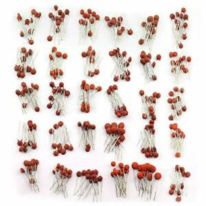 Tegg 300pcs Ceramic Capacitors Assorted Kit 2pf 0 1uf 30 Values Commonly Used
