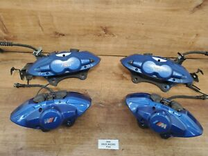 Oem Bmw F22 F30 340345mm Front Rear Left Right Brake Calipers Set Brembo Blue