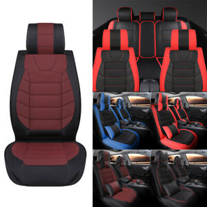 For Toyota Tundra Crew Max Leather Car Seat Covers Full Set Front Rear Cushion
