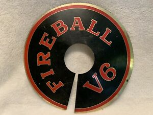 1960s Gm Buick Fireball V6 Air Cleaner Cover Sign Aluminum 9