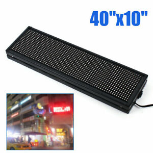 Sign Programmable Scrolling Advert Led Message Display Board Full Color 40 x10